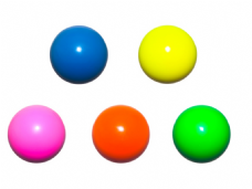 Jac Products 68mm Fluorescent Stage Chroma Juggling Ball